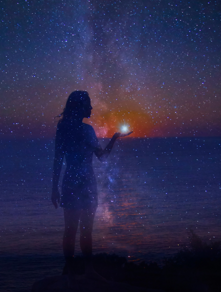 woman with star in hand